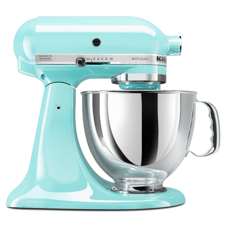 Kitchen aid aritsan ice blue cozinha rosa misturador de