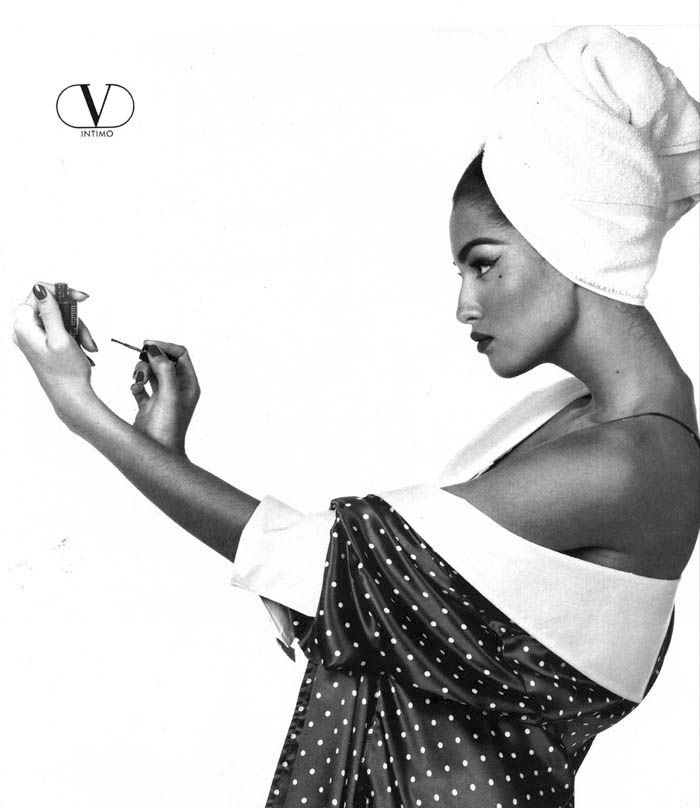Yasmeen Ghauri for Valentino photography by Steven Meisel, 1990s