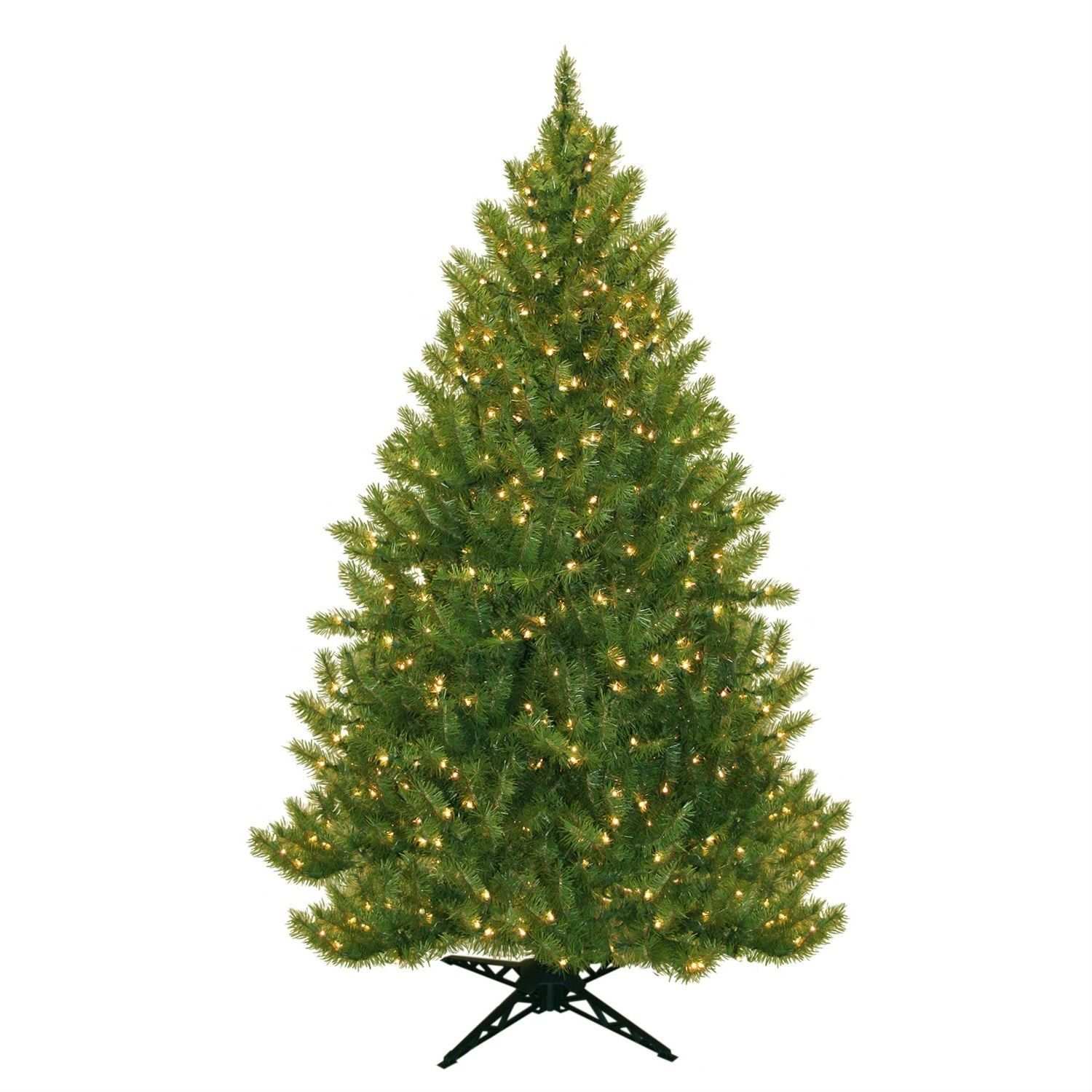 65 Foot Realistic Artificial Christmas Tree With Stand Pre Lit With