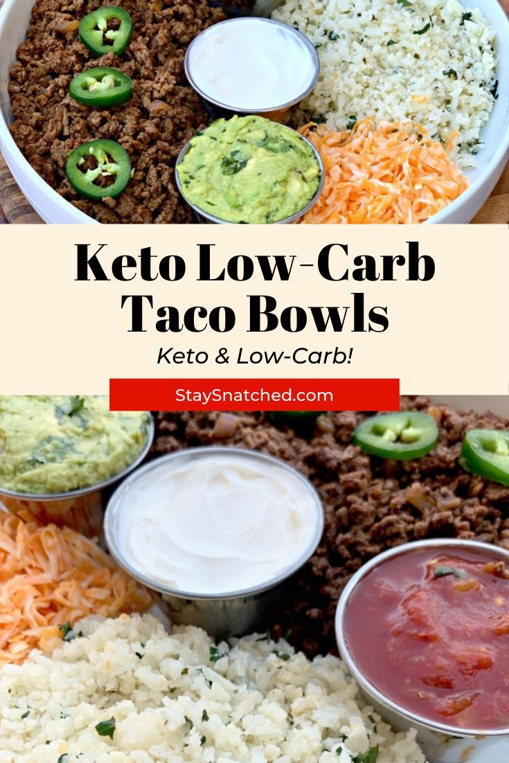Easy 30minute keto taco bowls with cilantro lime