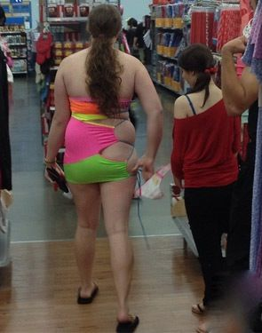 Neon Green and Hot Pink Ripped Up Drawstring Bag Shorts at Walmart ...