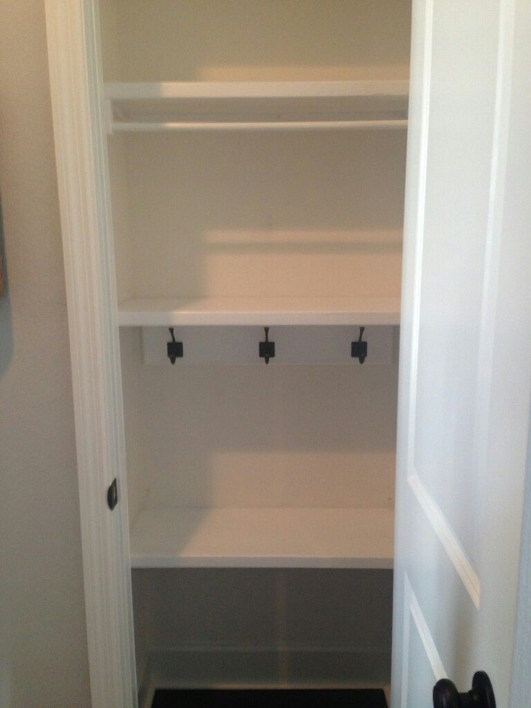 The Taylor S Hall Closet With Built In Shelving Hanging Rail And