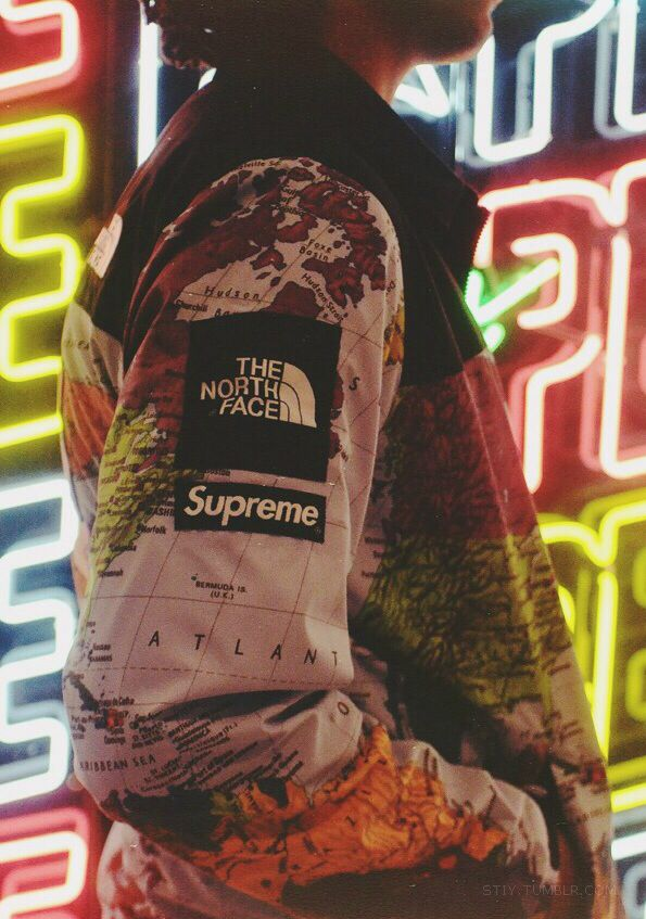 Supreme x north face jacket fashion and acessories pinterest jacket the world dope north face the north face jacket the north face coat supreme supreme sweater dope shit dope af dopeness the weeknd map print xoxo map gumiabroncs Images