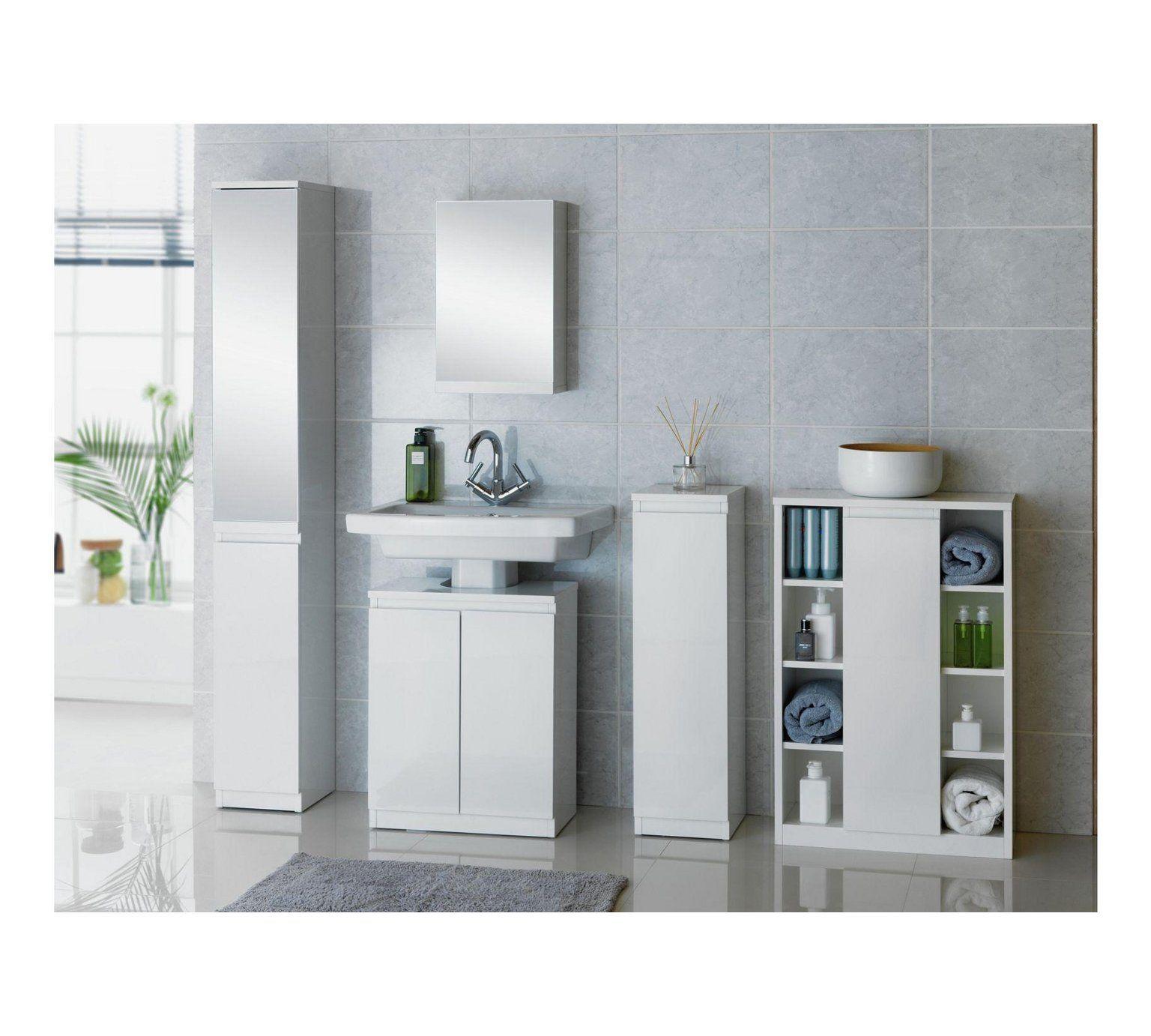 Buy Hygena Gloss Console Storage Cabinet White At Argos Co Uk Visit Argos Co Uk To Shop Online F Bathroom Floor Cabinets White Bathroom Furniture Argos Home