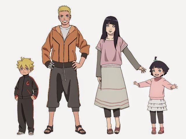 NaruHina y sus hijos :)
