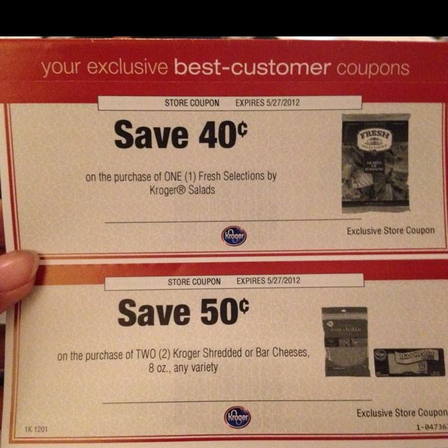 Who Doesn T Love Personalized Customer Coupons From Kroger Kroger Couponing Kroger Store Coupons
