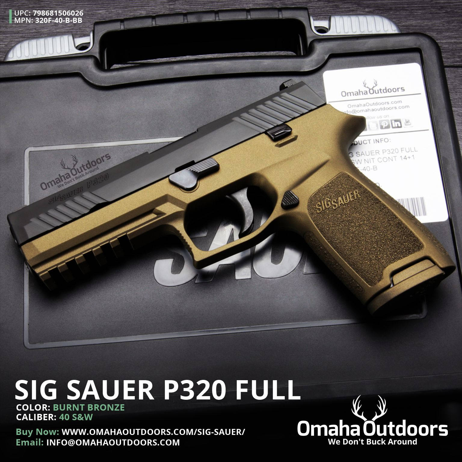 Sig Sauer P320 f/s with burnt bronze finish. Purty! | guns ...