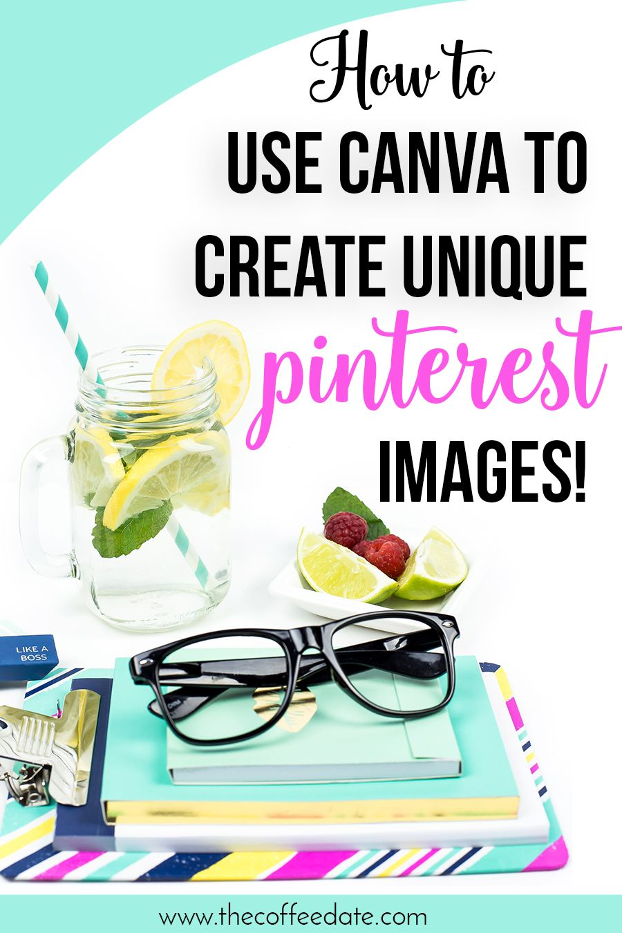 How to create unique Pinterest Graphics with Canva by The Strategist Cafe