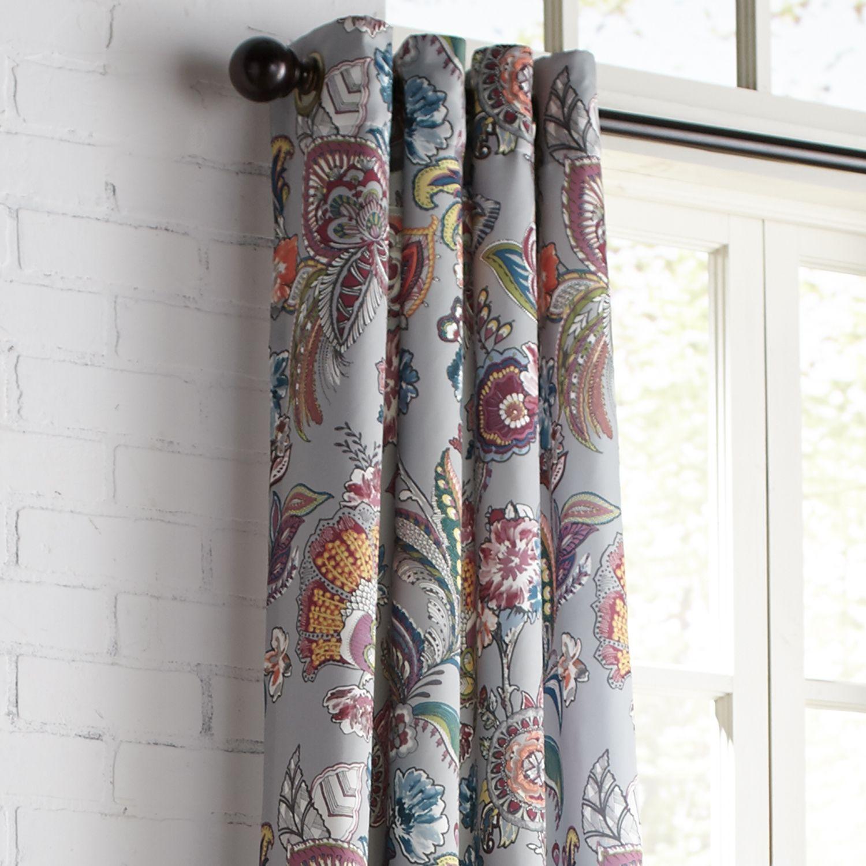Ashford Fl Gray 96 Grommet Curtain
