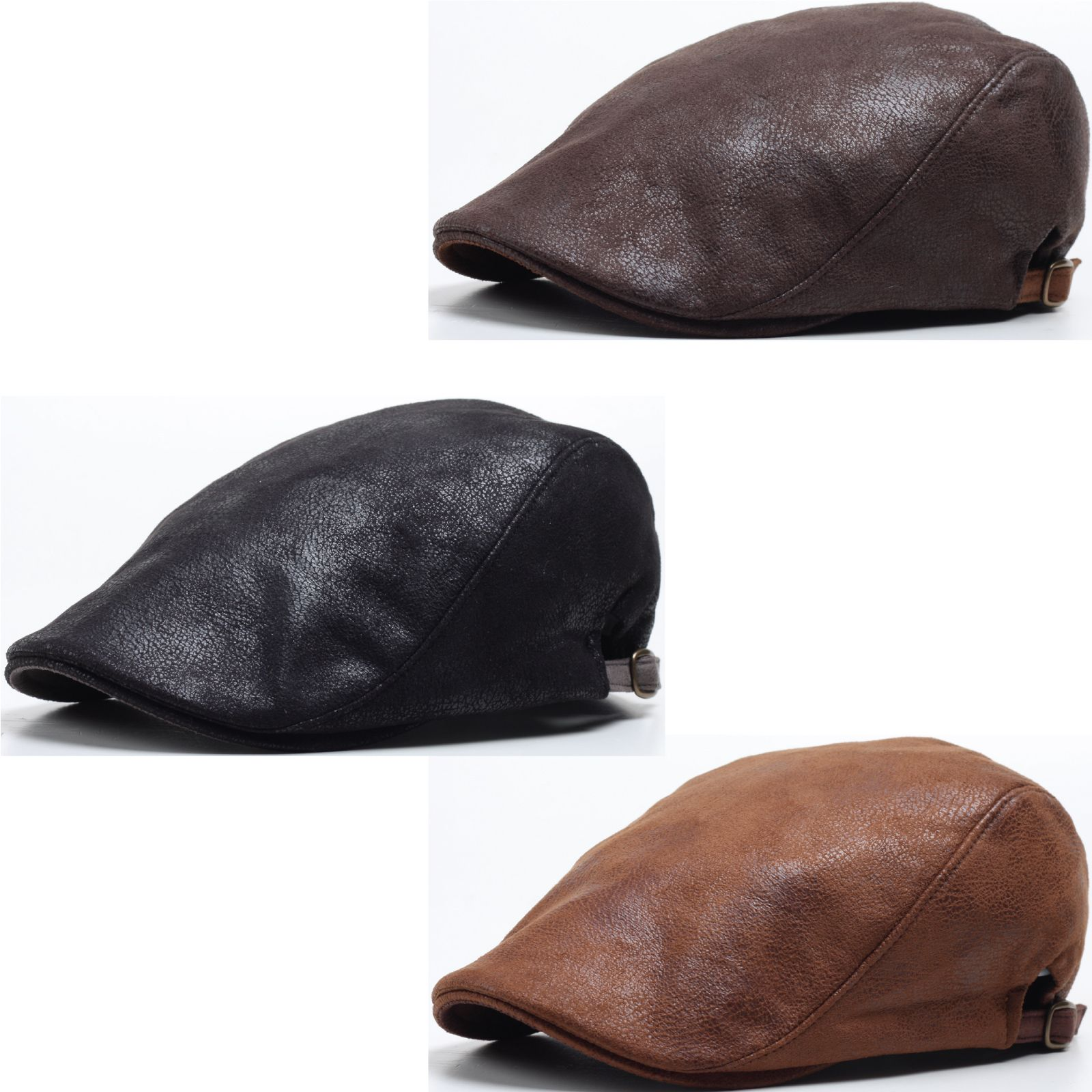 dd872c5338d N148 New Faux Leather Snake Skin Newsboy Ascot Golf Club Flat Ivy Cap  Gatsby Hat