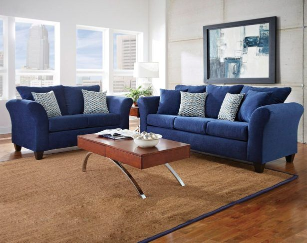 Living Room Awesome Leather Sofa And Loveseat Sets Navy Blue American Freight Furniture