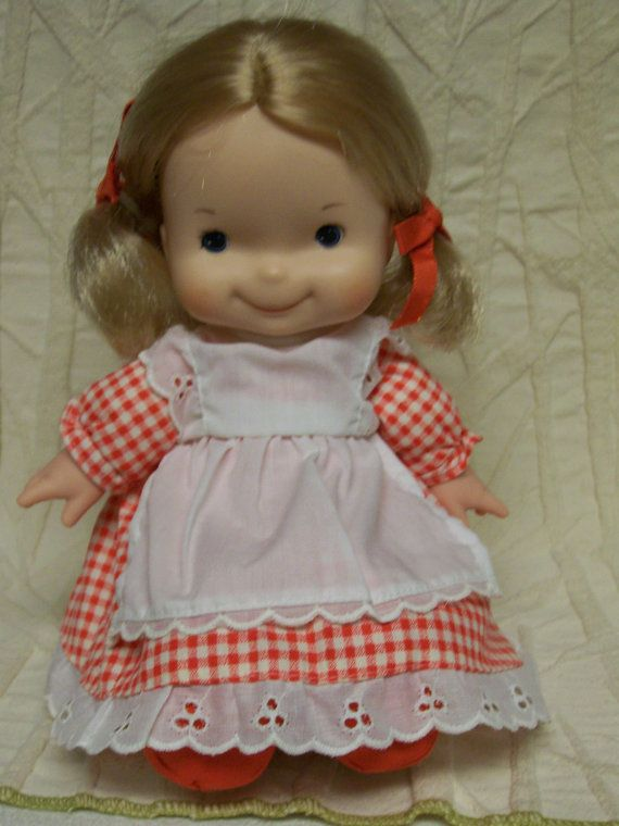 Vintage Fisher Price Mary Lapsitter Doll 1974 1977 Fun Things To Remember Vintage Fisher Price Gingham Dress Fisher Price
