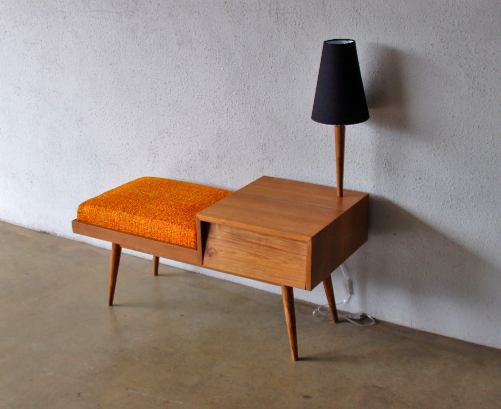 Our Danish Modern 2 Piece Sectional Couch Had An End Table