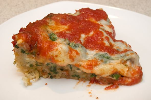 deep dish pizza with a secret grocery-store ingredient