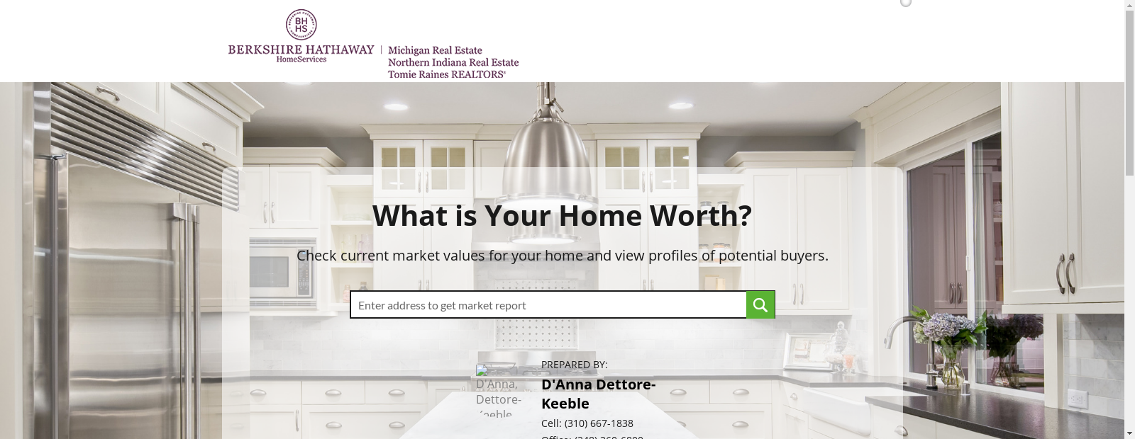 Home Value Estimator By D Anna Dettore Keeble Investment