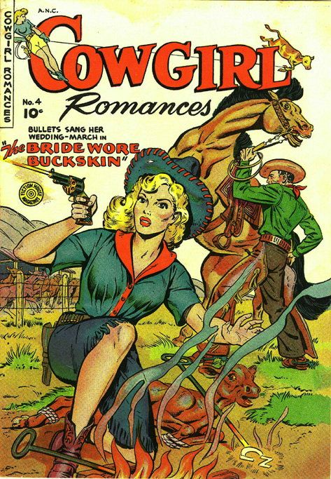 Are you cowboy enough to handle her kind of romance? :) #vintage #Western #cowgirl #fashion #comics