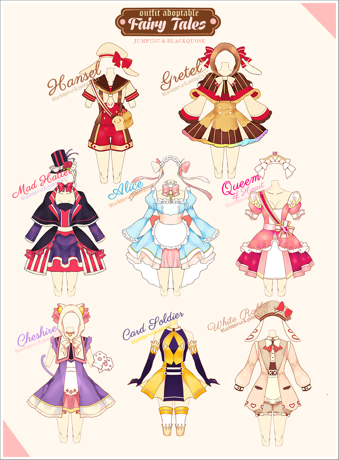 [OPEN] Fairy Tales Outfit Adoptable 10 by BlackQuose