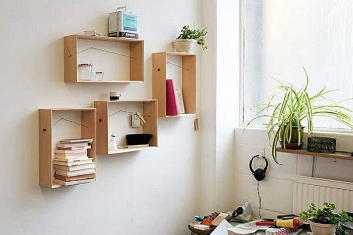 Diy wall decorating with recycled material wall decor diy wall recycled wooden boxes wall decor ppazfo