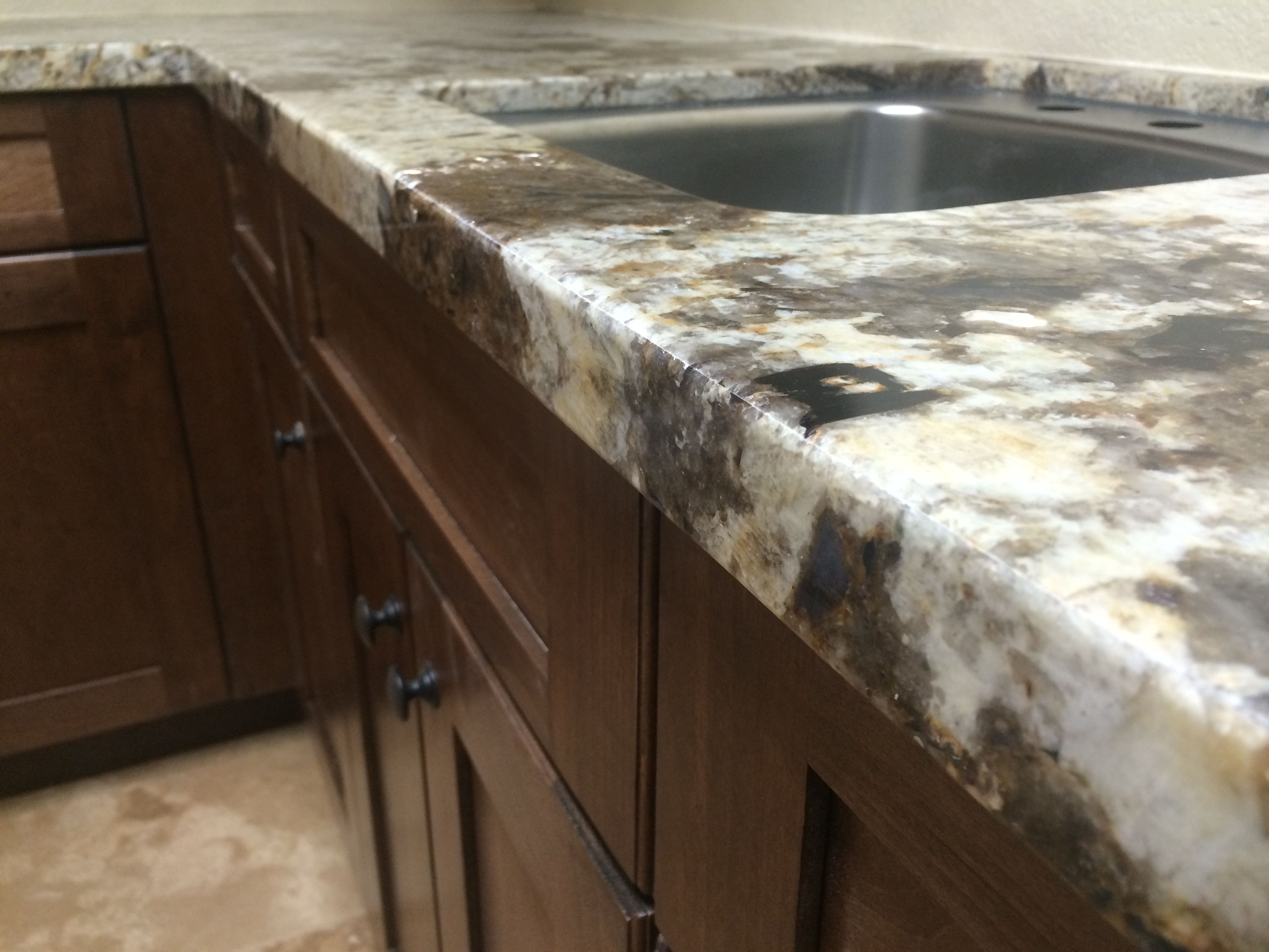 Granite With A Custom Mitered Fold Edge Color Copenhagen Countertops Decor Granite