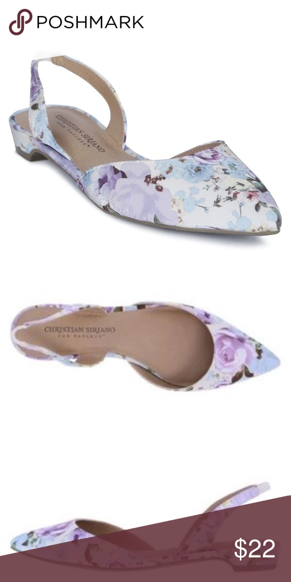 f9315858b2f  christian siriano for payless  floral flats Gorgeous pointed toe shoes  with multicolored flower detail. Slingback flats are in like new condition  and are ...