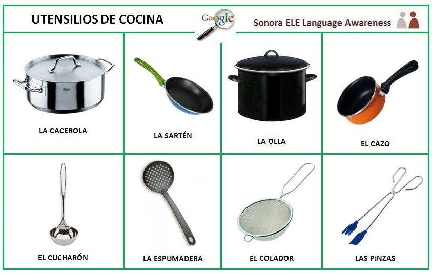 Utensilios de cocinas con nombre em espanhol imagui for Utensilios de cocina antiguos con nombres