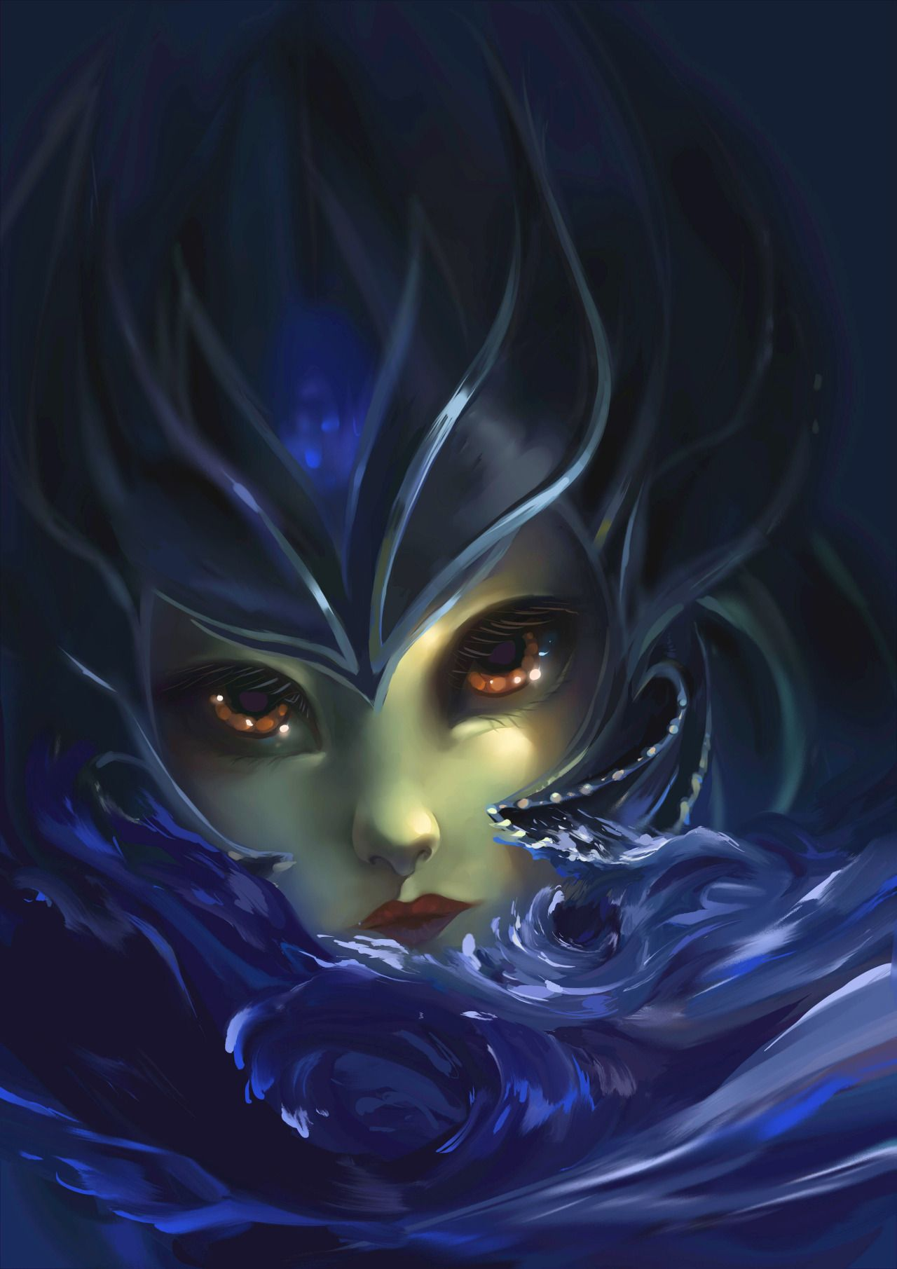 diabolicalchainsaws: And behold too-blue Nami since my Leona