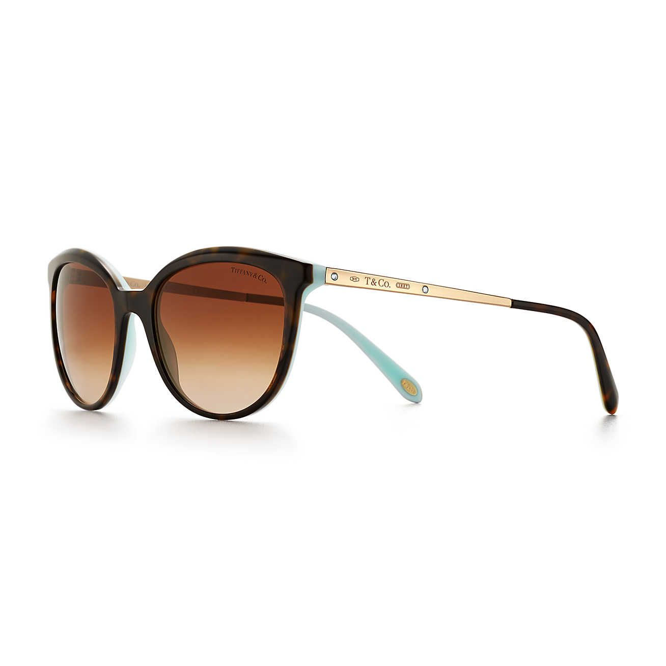 6bd88859753d Tiffany 1837® phantos sunglasses in tortoise and Tiffany Blue® acetate.