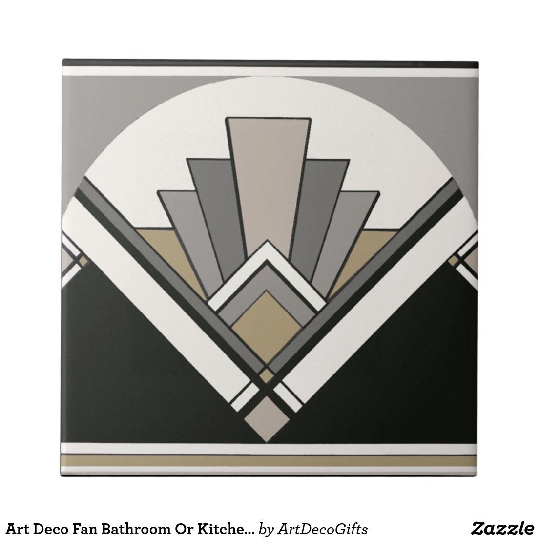 Art Deco Fan Bathroom Or Kitchen Tile | Zazzle.com