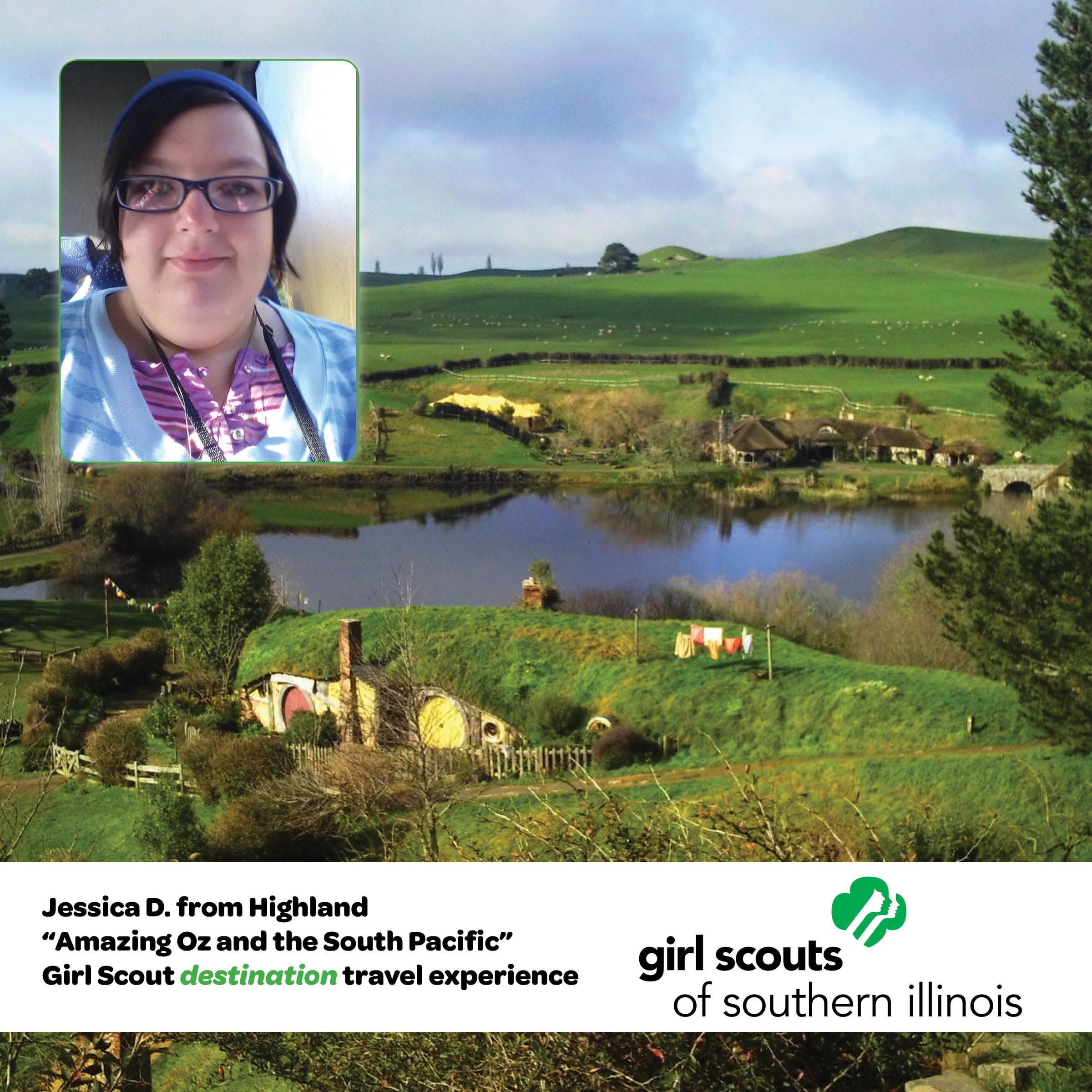 Trips, tours and Tolkien!  Girl Scout Jessica D. experienced all this and more on her Girl Scout destination to New Zealand, Australia and Fiji!