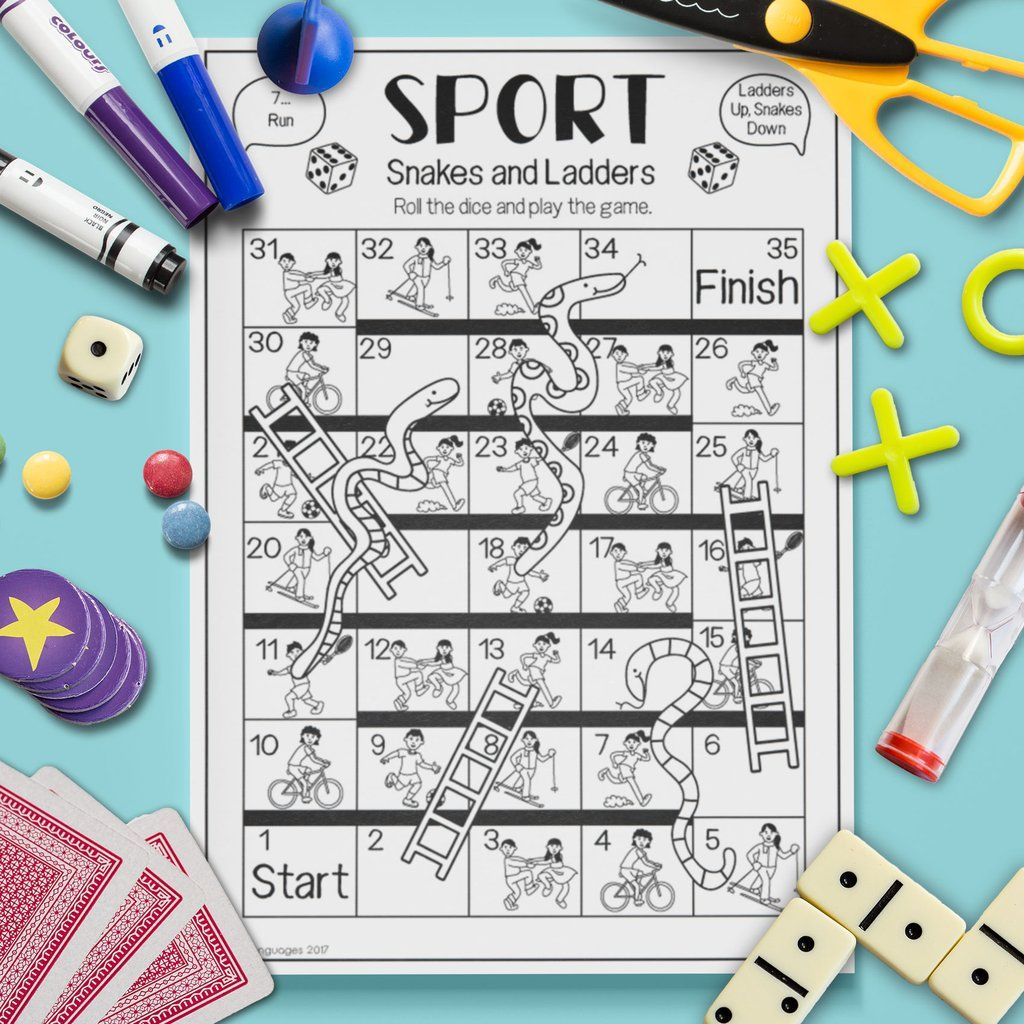 Sport Snakes Amp Ladders Game