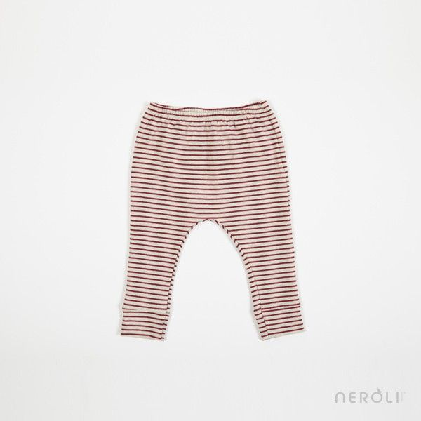 Legging rojo a rayas para bebé de 1 + In The Family. #baby #trousers #fashion #NeroliByNagore #SS14 #OneMoreInTheFamily