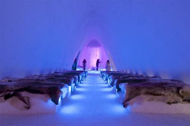 The Ice Hotel In Hunderfossen Norway