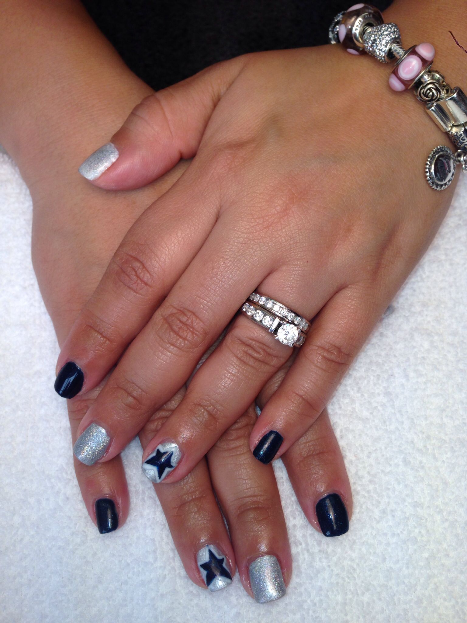 Dallas Cowboy nails by me. | Nails | Pinterest | Dallas cowboys ...