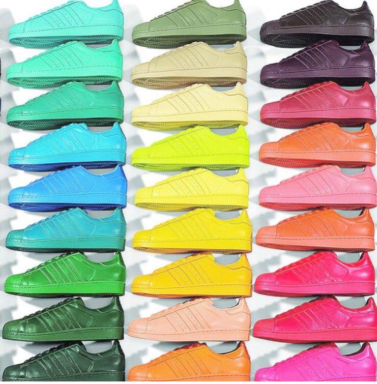 La Superstar prend des couleurs   Pharrell williams, Adidas