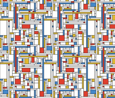 Mondrian Blocks (small) fabric by studiofibonacci on Spoonflower - custom fabric
