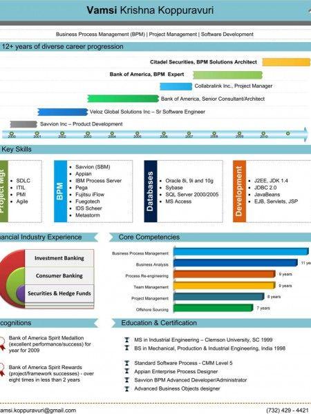 Vamsi Krishna PictoCV Infographic | Al | Pinterest | Financial ...