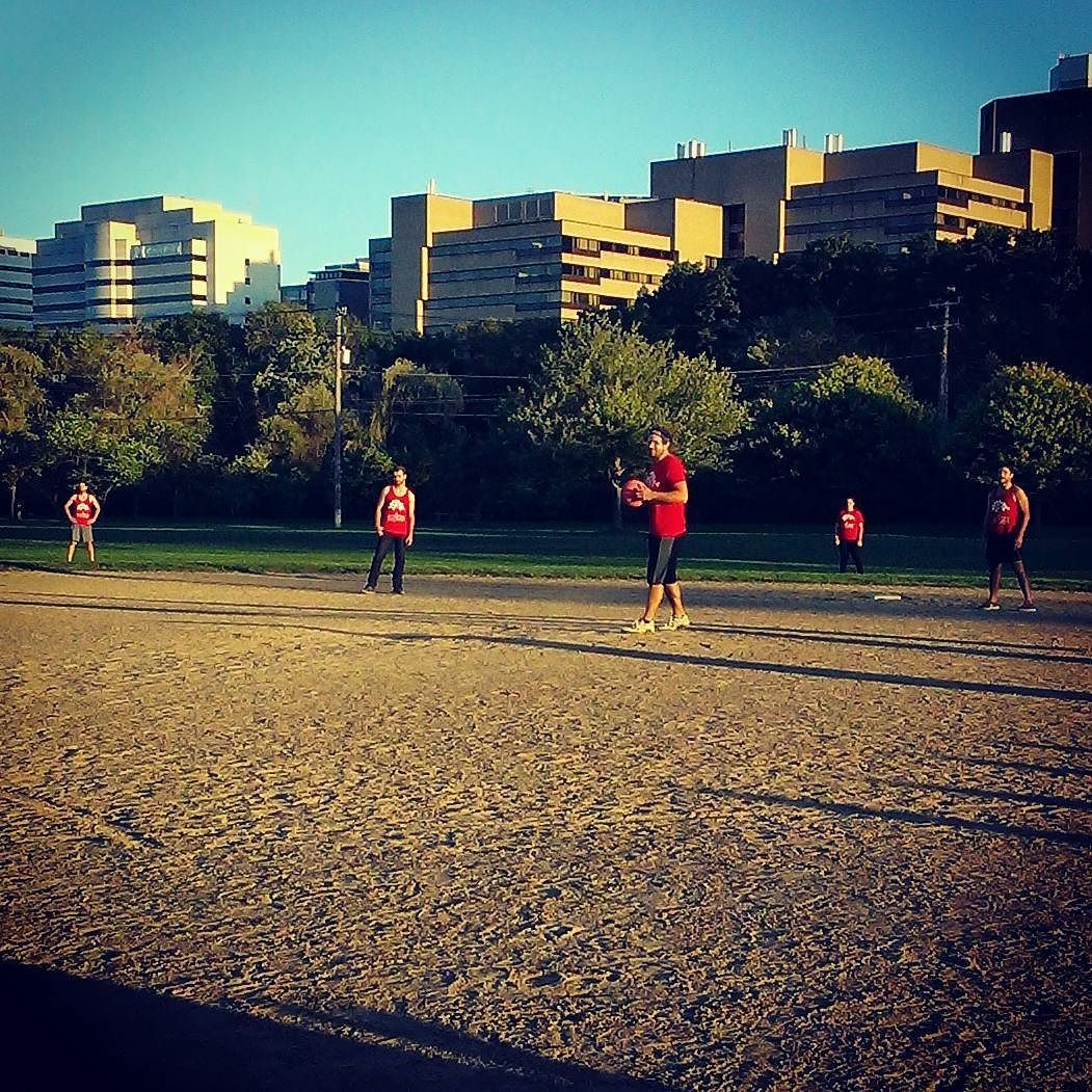 A little Sunday afternoon #kickball at #a2 #riversidepark with @annarbortees