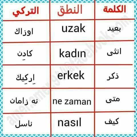 Pin By Nemo On تعليم اللغة التركيه Turkish Language Learn Turkish Language Turkish Lessons