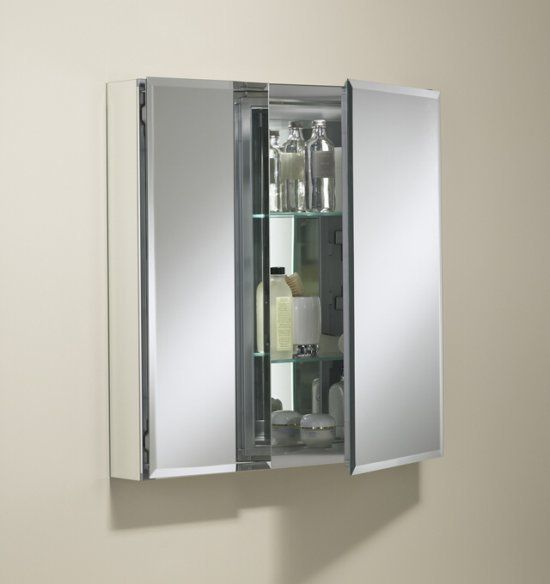 Buy The Kohler Silver Aluminum Direct. Shop For The Kohler Silver Aluminum  X Double Door Reversible Hinge Frameless Mirrored Medicine Cabinet And Save.