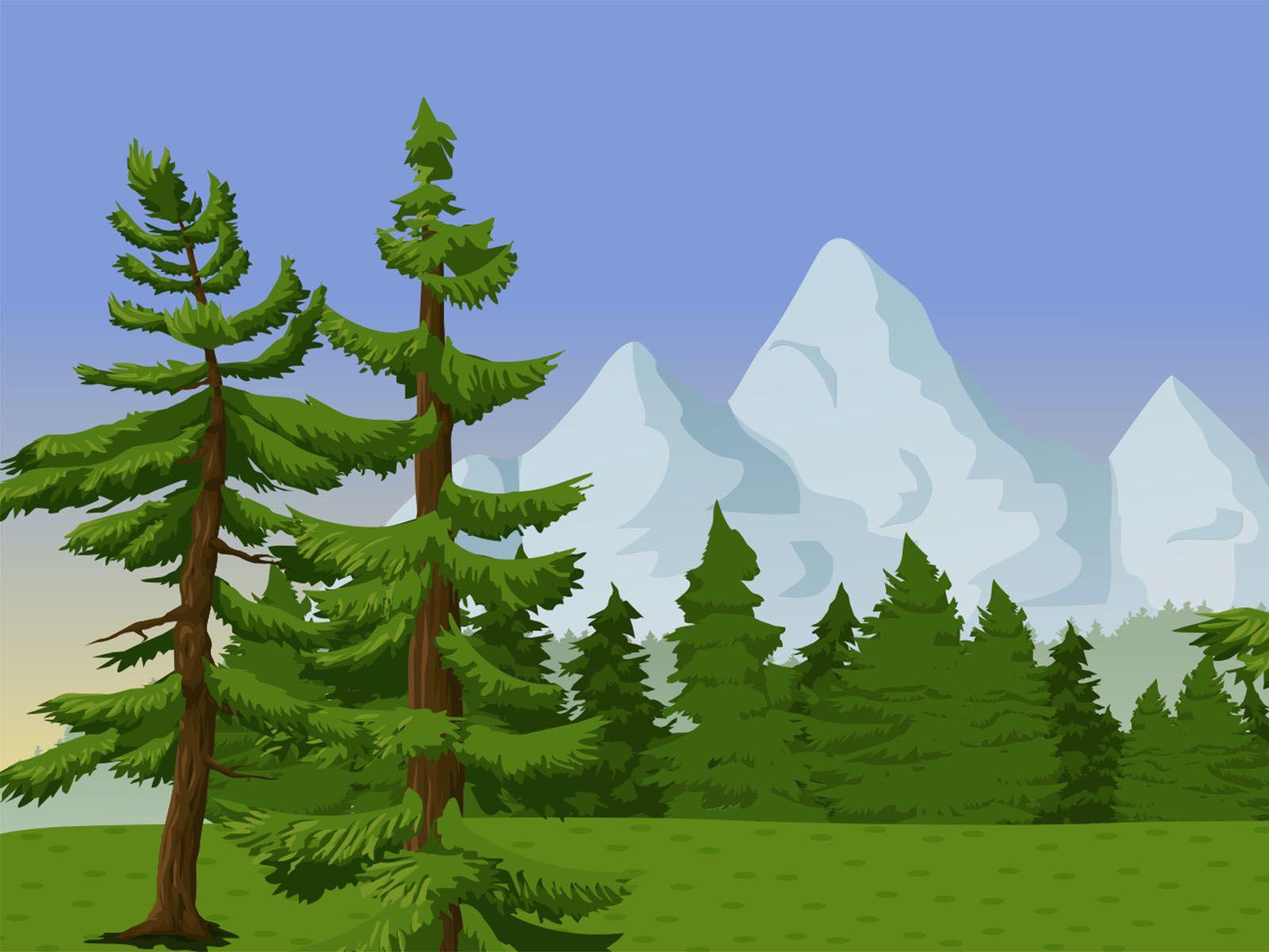 Everygreen Landscape Backgrounds Landscape Background Clouds Design Landscape