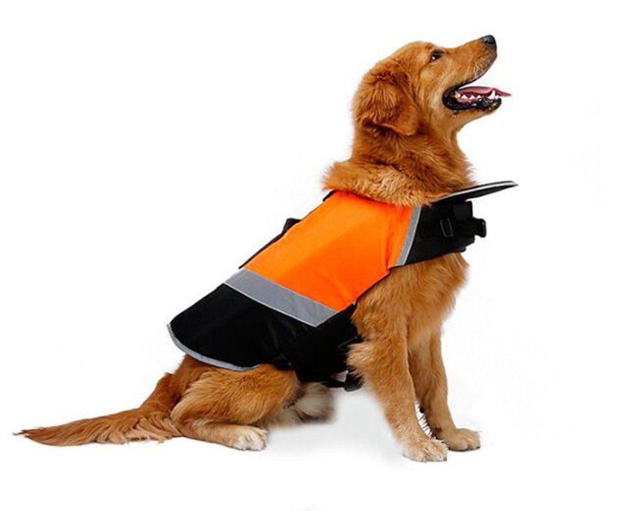 Sawmong Dog Life Jacket Pet Swim Vest Dogs Life Preserver Floatation Coat With Reflective Stripe Bulldog Terrier Corgis Saver In Dog Swimming Dog Costumes Dogs