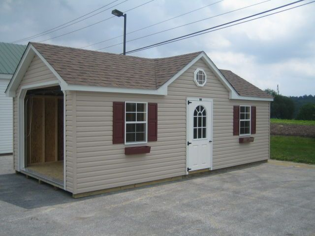 Pa Prefab Two Car Garages And Amish Built Sheds: AMISH BUILT 12x24 A-FRAME GARAGE STORAGE SHED VINYL WITH