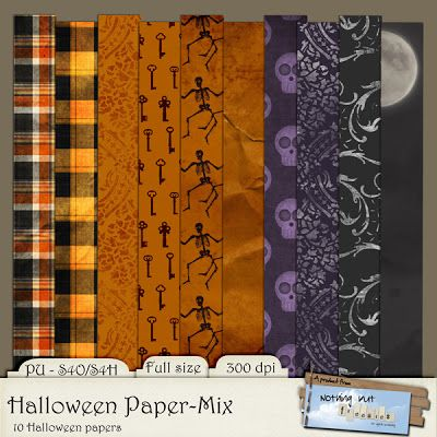 Scrapbooking TammyTags -- TT - Designer - Nothing But Freebies, TT - Item - Paper, TT - Theme - Halloween