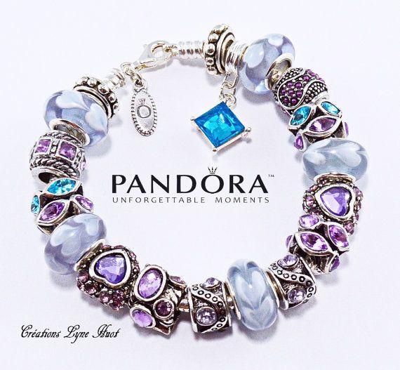 Authentique bracelet PANDORA argent sterling à fermoir homard ...