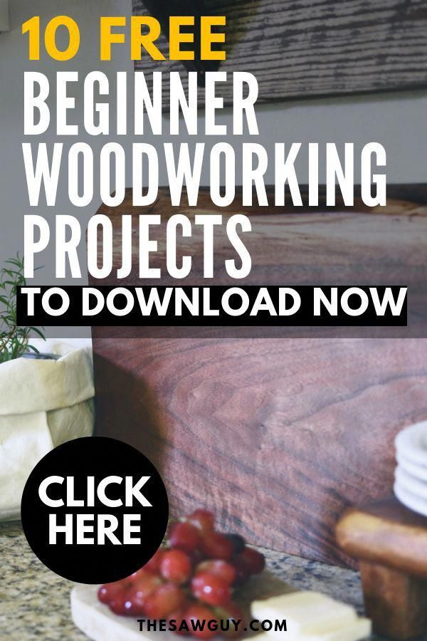 Just getting started on your woodworking journey? There's no need to get intimidated. Click on to download our 10 FREE woodworking projects that are beginner-friendly. Build something today! #thesawguy #woodworkingprojects #woodworkingideas #bestwoodworkingprojects #easywoodworkingprojects #woodworkingprojectsforbeginners #WoodworkingToolsBest