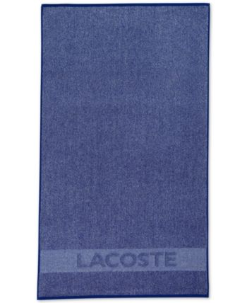 Lacoste Heathered Cotton 30 X 52 Bath Towel Blue Blue Towels