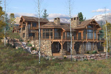 Unique log homes custom log homes cool houses for Log home architects