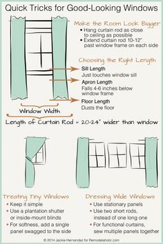 Quick Tricks For Great Looking Curtain Panels On Remodelaholic