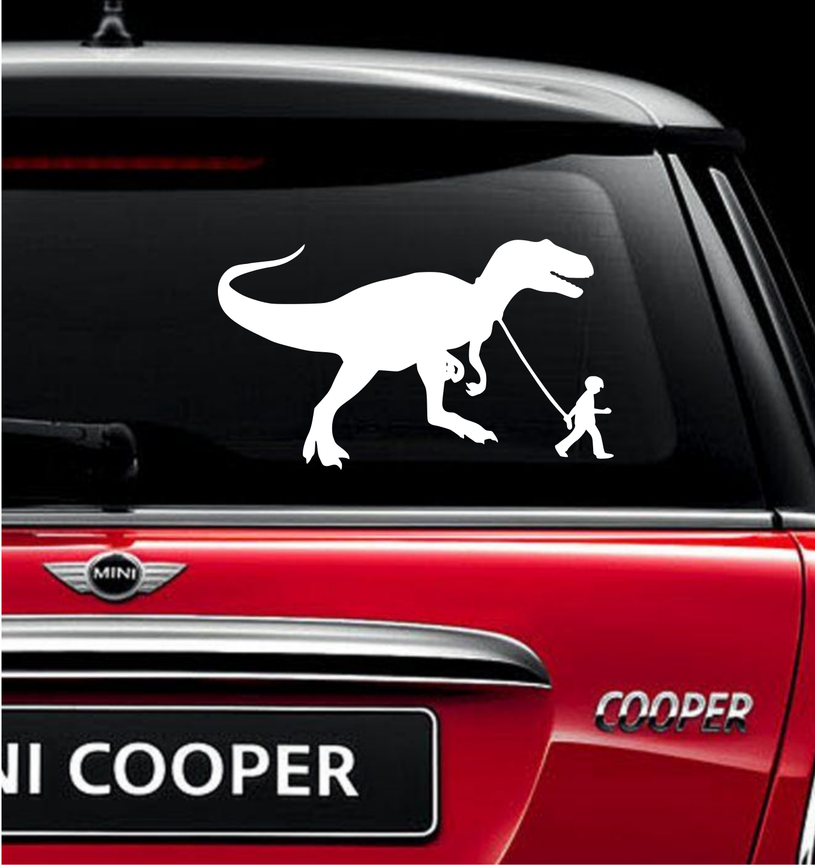 GIRL WALKING A GIRAFFE Vinyl Decal Sticker Car Window Wall Bumper Funny Animal