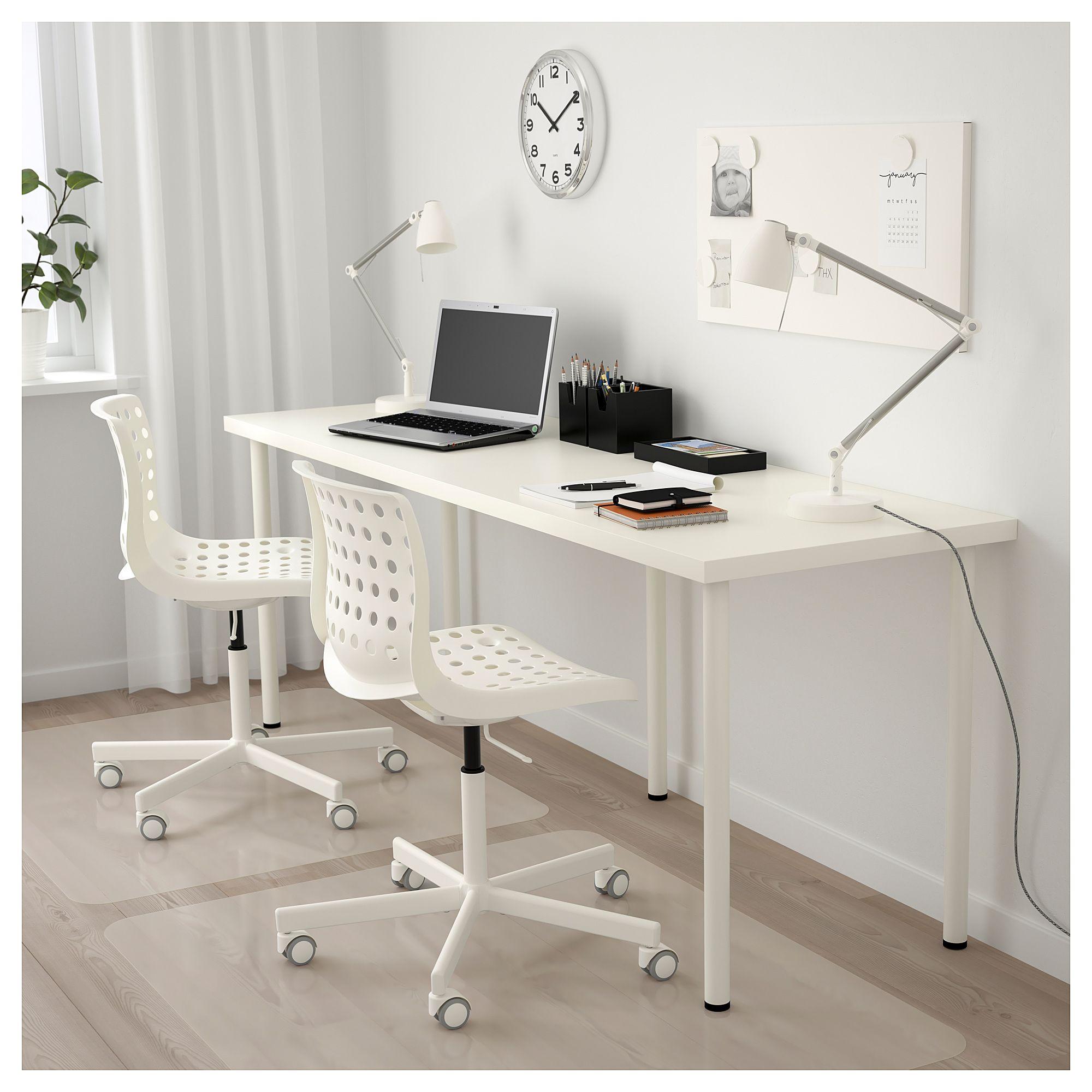 Linnmon Alex Table Blanc 200x60 Cm Ikea In 2020 Ikea Ikea Desk Linnmon Table Top